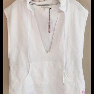 Angel Victoria's Secret sleeveless sweatshirt hood
